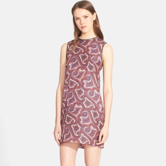 Theory Dresses & Skirts - Theory Brindina Leather-Trimmed Dress